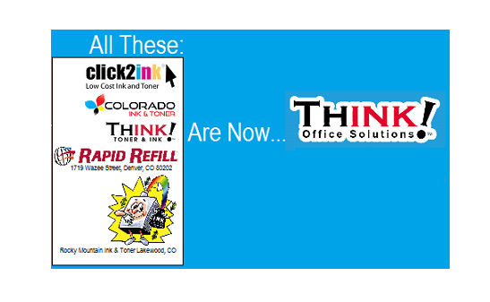 THINK! Office Solutions new logo for THINK! Toner & Ink