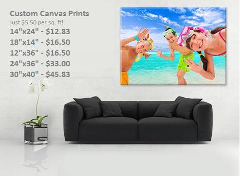 cheap large canvas prints think office denver