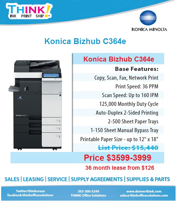 konica minolta bizhub c364 copier denver sales leasing service rh denverthink com bizhub c368 user manual as pdf bizhub c364e user manual